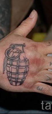 тату граната фото готовой татуировки для статьи про значение тату – tatufoto.ru 49