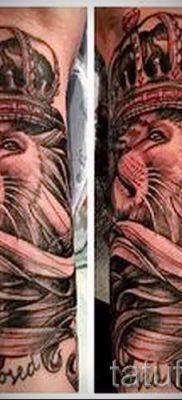 тату лев с короной – фото для статьи про значение татуировки  – tatufoto.ru – 17