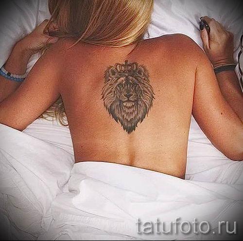 тату лев с короной - фото для статьи про значение татуировки - tatufoto.ru - 34