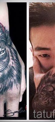 тату лев с короной – фото для статьи про значение татуировки  – tatufoto.ru – 49