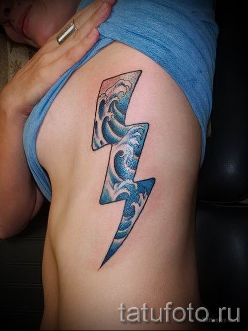 тату молния фото для стати про значение татуировки - tatufoto.ru - 2