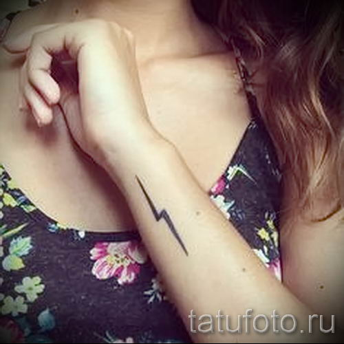 тату молния фото для стати про значение татуировки - tatufoto.ru - 15