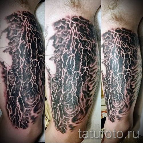 тату молния фото для стати про значение татуировки - tatufoto.ru - 27