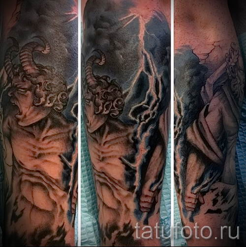 тату молния фото для стати про значение татуировки - tatufoto.ru - 31