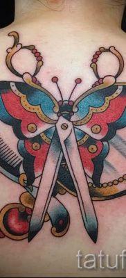 тату ножницы фото пример для статьи про значение рисунка татуировки – tatufoto.ru – 25
