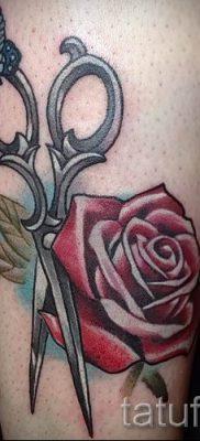 тату ножницы фото пример для статьи про значение рисунка татуировки – tatufoto.ru – 26