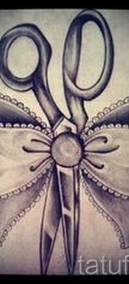 тату ножницы фото пример для статьи про значение рисунка татуировки – tatufoto.ru – 31