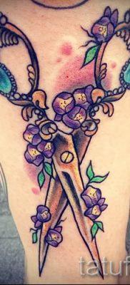 тату ножницы фото пример для статьи про значение рисунка татуировки – tatufoto.ru – 41