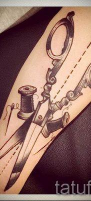 тату ножницы фото пример для статьи про значение рисунка татуировки – tatufoto.ru – 44
