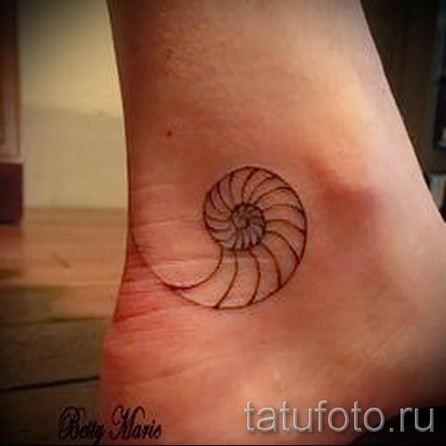 тату улитка фото - пример тату для статьи про значение татуировки - tatufoto.ru - 2