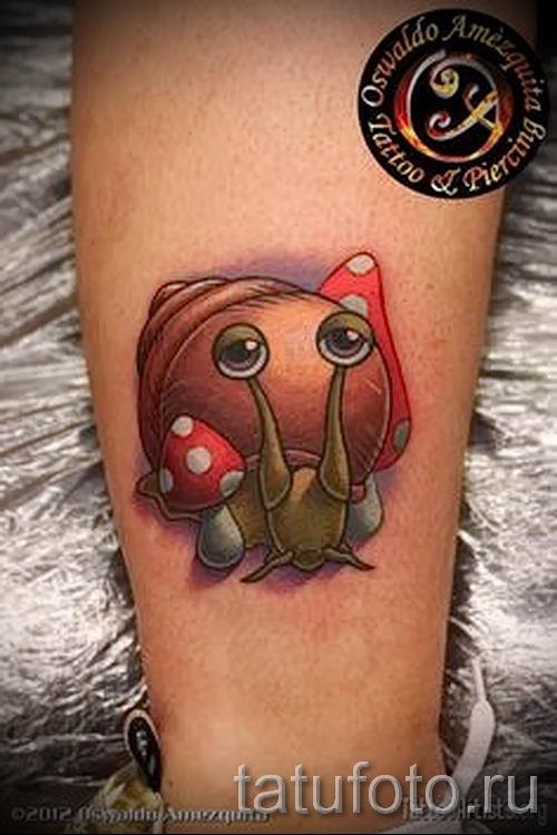 тату улитка фото - пример тату для статьи про значение татуировки - tatufoto.ru - 3