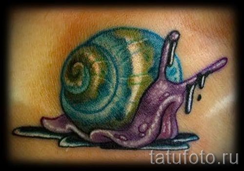 тату улитка фото - пример тату для статьи про значение татуировки - tatufoto.ru - 6