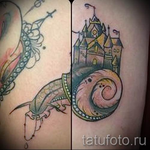 тату улитка фото - пример тату для статьи про значение татуировки - tatufoto.ru - 7