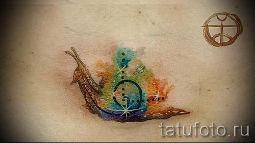 тату улитка фото - пример тату для статьи про значение татуировки - tatufoto.ru - 14