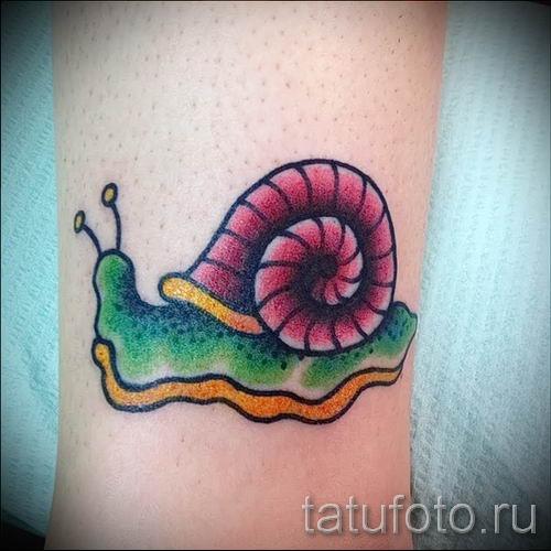 тату улитка фото - пример тату для статьи про значение татуировки - tatufoto.ru - 16