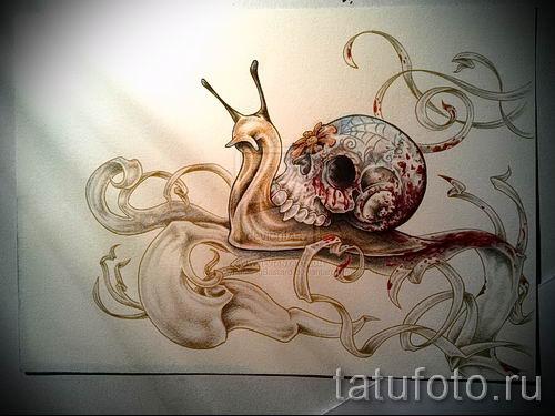 тату улитка фото - пример тату для статьи про значение татуировки - tatufoto.ru - 18