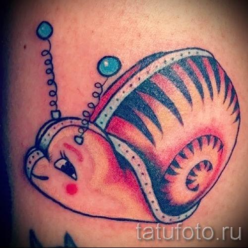 тату улитка фото - пример тату для статьи про значение татуировки - tatufoto.ru - 26
