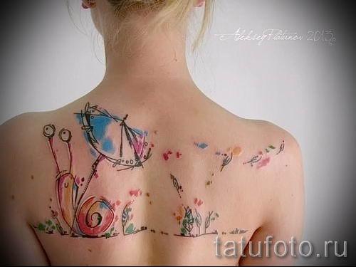 тату улитка фото - пример тату для статьи про значение татуировки - tatufoto.ru - 37