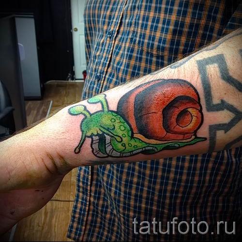 тату улитка фото - пример тату для статьи про значение татуировки - tatufoto.ru - 39