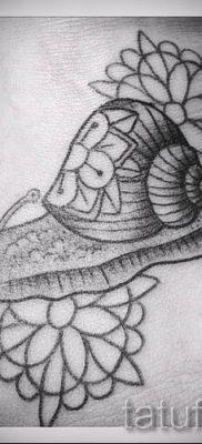 тату улитка фото – пример тату для статьи про значение татуировки – tatufoto.ru – 40