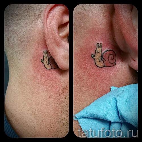 тату улитка фото - пример тату для статьи про значение татуировки - tatufoto.ru - 41