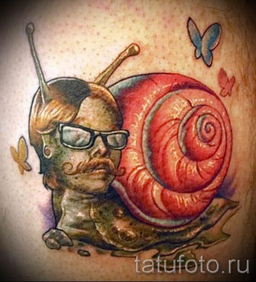 тату улитка фото - пример тату для статьи про значение татуировки - tatufoto.ru - 42