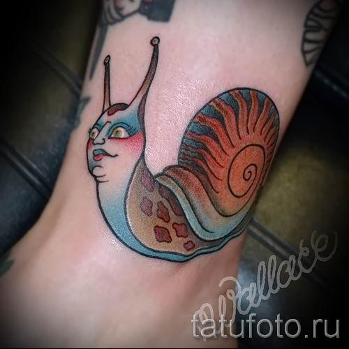 тату улитка фото - пример тату для статьи про значение татуировки - tatufoto.ru - 43