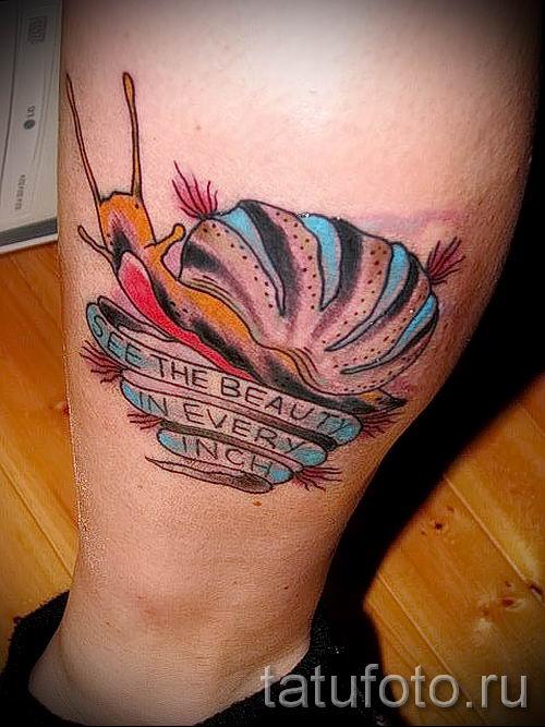 тату улитка фото - пример тату для статьи про значение татуировки - tatufoto.ru - 46