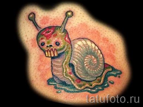 тату улитка фото - пример тату для статьи про значение татуировки - tatufoto.ru - 49