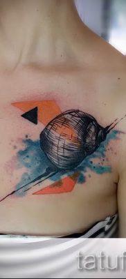 тату улитка фото – пример тату для статьи про значение татуировки – tatufoto.ru – 51