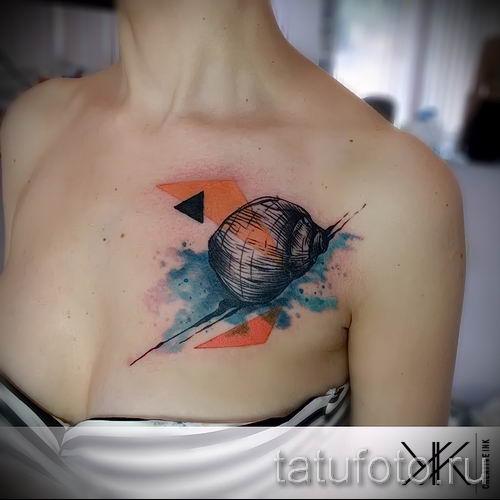 тату улитка фото - пример тату для статьи про значение татуировки - tatufoto.ru - 51