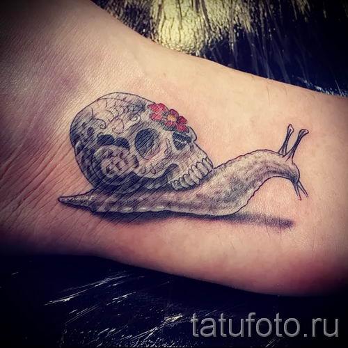 тату улитка фото - пример тату для статьи про значение татуировки - tatufoto.ru - 53