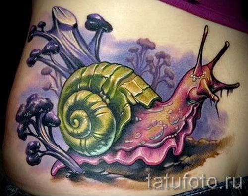 тату улитка фото - пример тату для статьи про значение татуировки - tatufoto.ru - 55