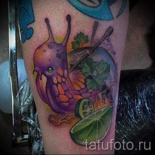 тату улитка фото - пример тату для статьи про значение татуировки - tatufoto.ru - 56