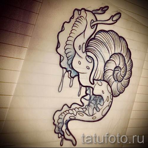 тату улитка фото - пример тату для статьи про значение татуировки - tatufoto.ru - 64