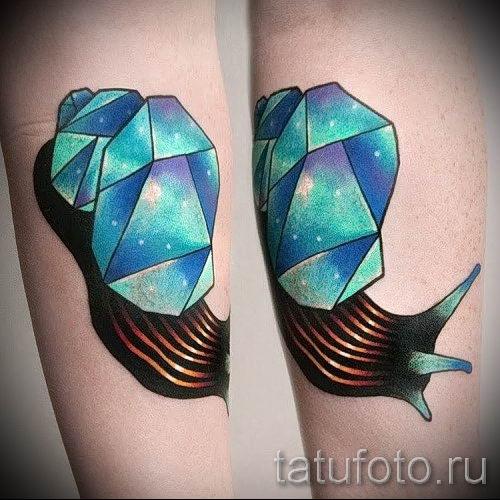тату улитка фото - пример тату для статьи про значение татуировки - tatufoto.ru - 65