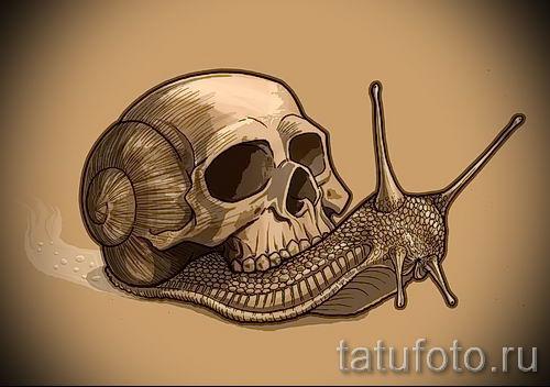 тату улитка фото - пример тату для статьи про значение татуировки - tatufoto.ru - 69
