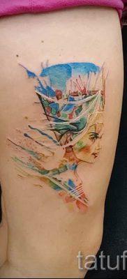 фото классной готовой тату Нефертити для статьи про значение 8