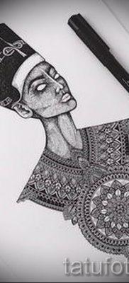 фото классной готовой тату Нефертити для статьи про значение 12
