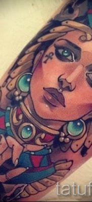 фото классной готовой тату Нефертити для статьи про значение 19