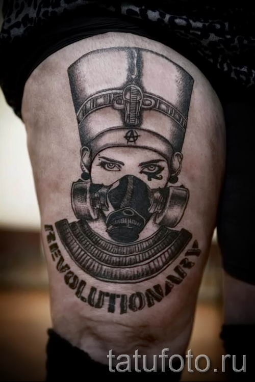 фото классной готовой тату Нефертити для статьи про значение 20