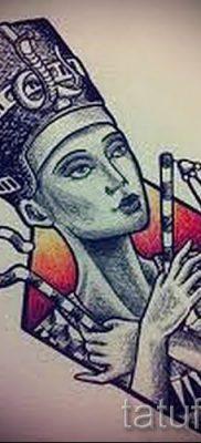 фото классной готовой тату Нефертити для статьи про значение 22