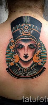 фото классной готовой тату Нефертити для статьи про значение 24