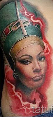 фото классной готовой тату Нефертити для статьи про значение 26