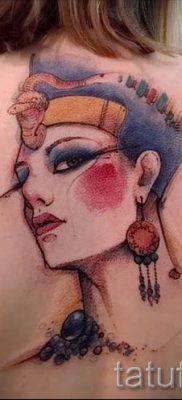 фото классной готовой тату Нефертити для статьи про значение 29