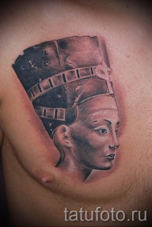 фото классной готовой тату Нефертити для статьи про значение 31