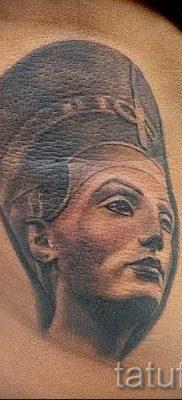 фото классной готовой тату Нефертити для статьи про значение 34