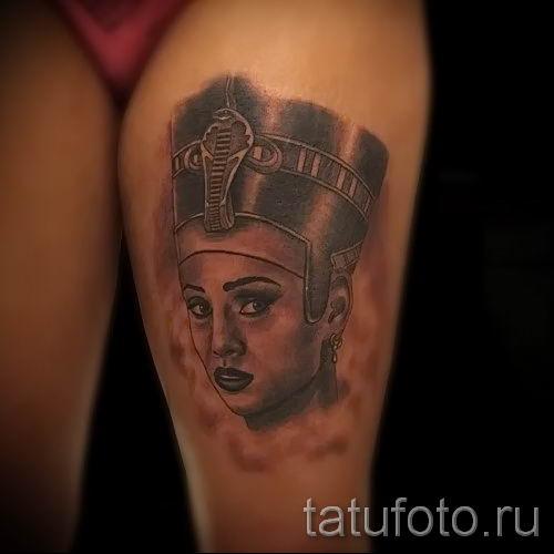 фото классной готовой тату Нефертити для статьи про значение 36
