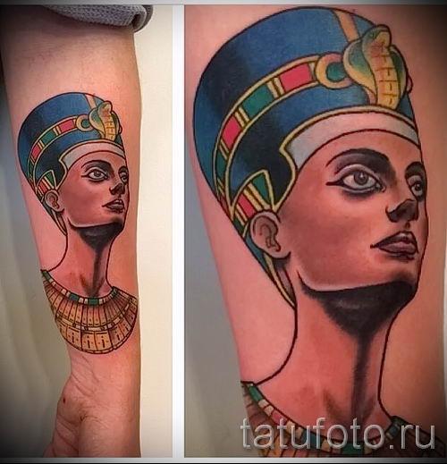 фото классной готовой тату Нефертити для статьи про значение 39