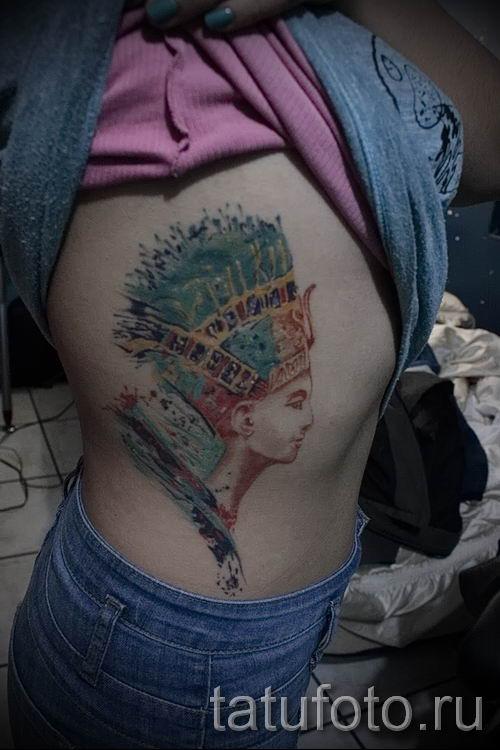 фото классной готовой тату Нефертити для статьи про значение 44